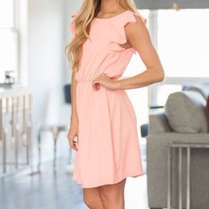 The Pink Lily Boutique | A Ruffle In Time Dress
